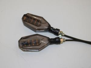 China Customized Color Motorcycle Led Turn Signals Indicator Tail Brake Lights 3C Approval on sale