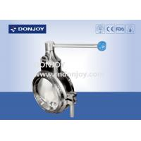 Sanitary grade manual butterfly valve multi - position handle for regulating flow
