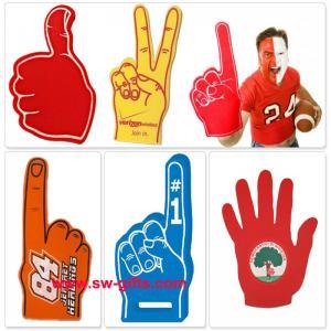 China Customer Made Finger Match Fan EVA Foam Hand Finger Cheering Promotional Wewing Eva on sale