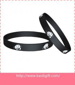 China Wristband Sports Silicone Bracelets Black Customized Logo No -Toxic on sale