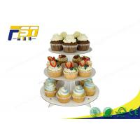 China Round Cardboard Cake Display 3 Layers 100% Recycling For Wedding Birthday Parties on sale