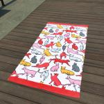 Giraffe Cat Cute Beach Towels