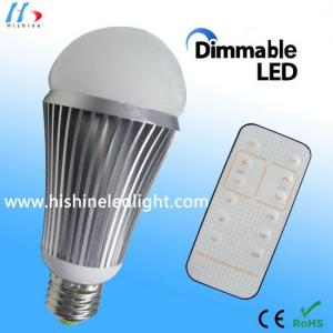 China Dimmable LED Globe Bulb E27 9W with Remote Controller both Color Temperature & Brightness on sale