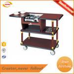 cheap factory direct coffee cart soild wood hotel coffe trolley with one burner B-016 Kunda