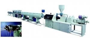 China Two Screw Plastic Extrusion Line , PP PE Twin Pipe Extruder With Siemens Motor on sale