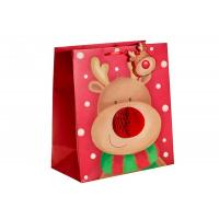 Custom Design Merry Christmas Xmas Paper Gift Bags With Honeycomb and POP UP attachment
