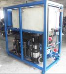 type du SHELL-Et-tube 9kw-130kw refroidisseur d'eau refroidi à l'eau industriel avec le réservoir de pompe à eau et d'eau