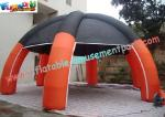 China Custom 9M Inflatable Party Tent , PVC Tarpaulin / PVC Coated Nylon Dome Inflatable Tent wholesale