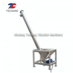 China Adjustable Speed Inclined Screw Feeder With Hopper , Screw Conveyor Machine on sale