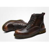 Cowhide Oil Leather Lace Up Ankle Boots , Doc Martin Mens Boots EU 35-44 Size