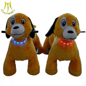 China Hansel  ride on dog  toy kids play ground equipment plush walking animal scooter rides on sale