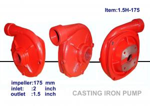China 1.5x1.5 inch diameter 171mm impeller cast iron high pressure centrifugal water pump  ISO and CE certificated on sale