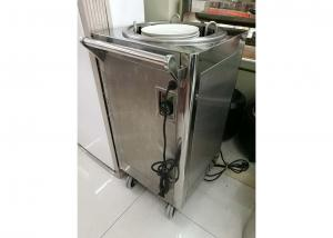 China 1-Holder Electric Plate Warmer Cart Capacity 50 Dishes, Single Heated Dish Dispenser, Commercial Buffet Equipment on sale
