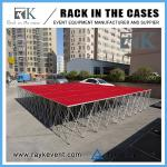 Car exhibition Red  aluminum portable stage deck for events school portable stage folding stage