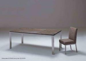 Quality Contemporary Marble Dining Tables , Luxury Metal Glass Dining Table , Modern for sale