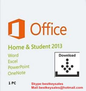 Quality Microsoft Office 2013 - Home and Student 1PC, FPP, Original online activation for sale