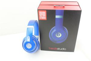 China Beats by Dre Studio  Wired Headphones Blue w/ Case & Chargers Used 3 Times! from grgheadsets.aliexpress.com on sale