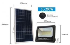 China 200W 304mm 4h Solar Powered Outdoor Flood Lights on sale