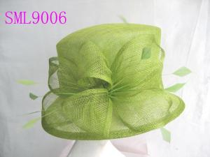 China Spring Sage Sinamay Ladies Hats , Green Small church lady hats on sale