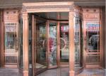 Serviço automático do OEM da porta giratória da entrada de bronze do hotel da flor da gravura