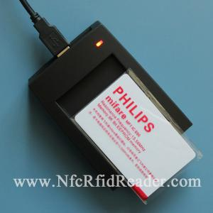 China Mifare 1k / Fm1108 13.56Mhz RFID USB Reader Long Range 10cm on sale
