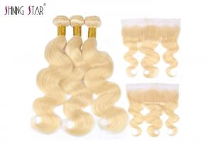China 613 Bundles With Frontal Body Wave Peruvian Hair Bundles With Frontal 13X4 Lace Closure on sale