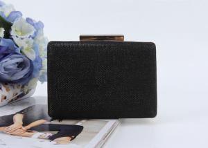 China New fashion women clutch purse black style pu leather lady hand bags on sale