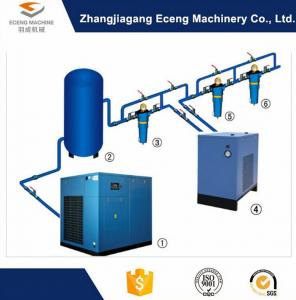 China Blue Air Compressor Machine , Environmental Protection 2 Stage Air Compressor  on sale