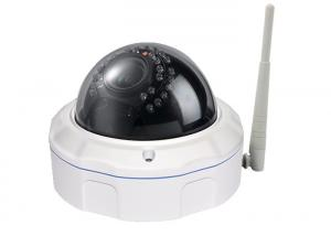 China IR Dome Night Vision HD Wifi IP Camera With 128G SD Card Vandal Proof on sale