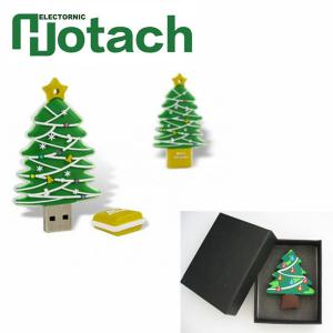 China Christmas USB Stick Gift Cartoon USB Flash Pen Drive PVC / Metal / Silica Gel Material on sale