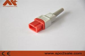 China IBP connector compatible for Compatible Spacelabs IBP cable with 10pin Red color on sale
