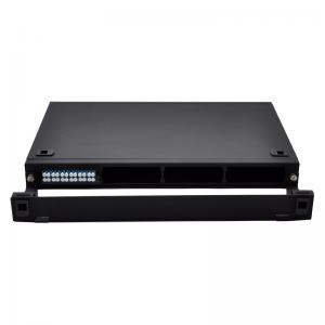 China 1U Rack Mountable FHD Fiber Optic Patch Panel Holds Up To 4x MTP-24 Cassettes on sale