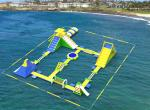 China Giant Inflatable Floating Water Games /  Inflatable Aqua Park With Trampoline wholesale