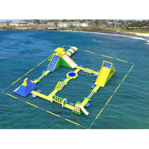 China Giant Inflatable Floating Water Games /  Inflatable Aqua Park With Trampoline on sale