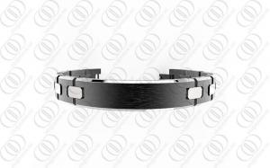 China PVD Germanium Titanium Bracelet  Hammered Silver Jewelry  ODM / OEM on sale
