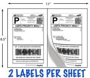 "China Paypal Shipping  Label Sheets (8.5""x11"") on sale"