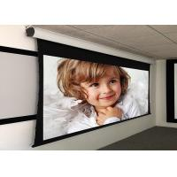 Custom Large Electric Motorized Projector Screen With Aluminum Casing , Remote Control