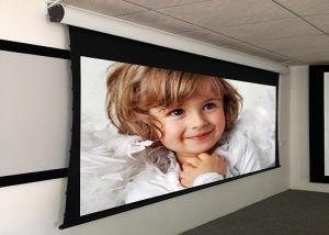 China Custom Large Electric Motorized Projector Screen With Aluminum Casing , Remote Control on sale