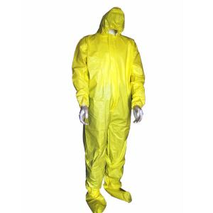 China Microporous Disposable Protective Coverall Safety Protective Clothing Type 5 / 6 on sale