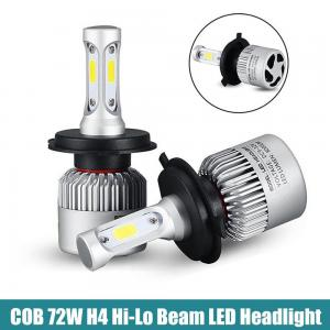 China Super bright Auto Car H8 H11 H7 H4 H1 LED Headlights 6500K 72W 8000LM COB Bulbs Diodes Automobiles Parts Lamp on sale