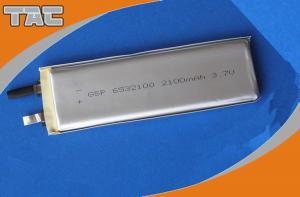 China GSP6532100 3.7V 2100mAh Lithium Ion Polymer Batteries Cells on sale