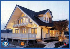 China Hot Dipped Galvanized Light Steel Villa / Modern Prefab Houses For Hotel on sale