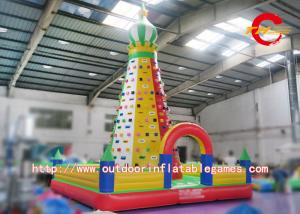 China Artificial Inflatable Rock Climbing Wall / Commercial Giant Inflatable Climbing Toys on sale
