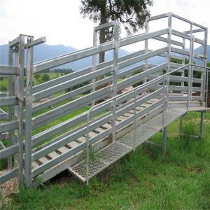 China Hot Dipped Galvanized Sheep Loading Ramp Plans Livestock Handling Equipment on sale
