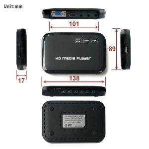China Indoor 12v Multimedia Video VGA YPbPr HDMI 1080p Digital Advertising Media Player on sale