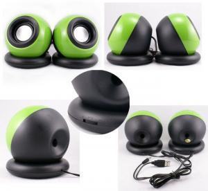 China 2.0 Channel USB Powered Computer Speakers , Mini Digital Computer Speakers Ball Shape on sale