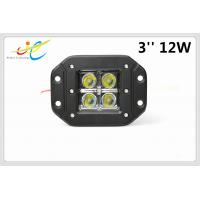 China Cree LED Spot Flood Work Light 12V 24V Flush Mount Led Work 4x4 12w Offroad driving work Lights For ATV Truck motorcycle on sale