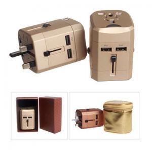 China Plug adapter with double USB charger on sale