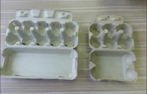 China Safety Molded Pulp Products , Eco-Friendly Molded Pulp Trays For Egg Packaging on sale
