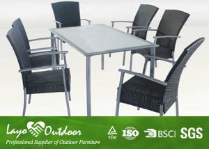 China muebles del patio 7PCS y de la piscina, muebles de cena al aire libre del patio fijados con el brazo que cena la silla on sale